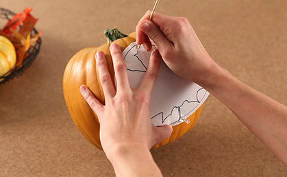Trace your pattern on your pumpkin