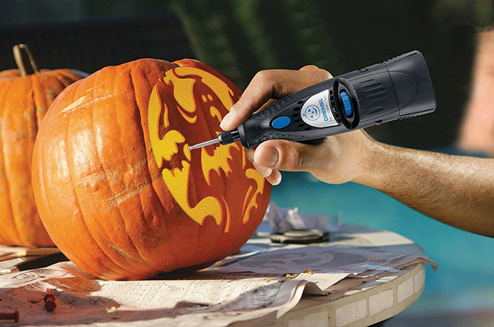 Easy Pumpkin Carving with Dremel 7000 6V Rotary Tool