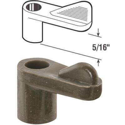 Prime-Line 5/16 In. Bronze Swivel Plastic Screen Clips with Screws (12 Count)