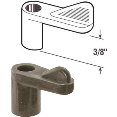 Prime-Line 3/8 In. Bronze Swivel Plastic Screen Clips with Screws (12 Count)