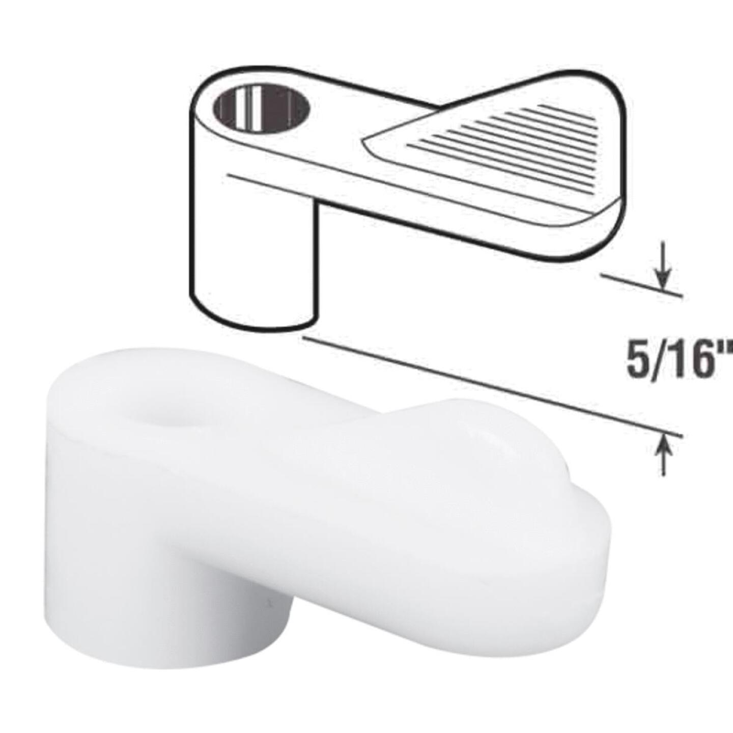 Prime-Line 5/16 In. White Swivel Plastic Screen Clips with Screws (12 Count) Image 1