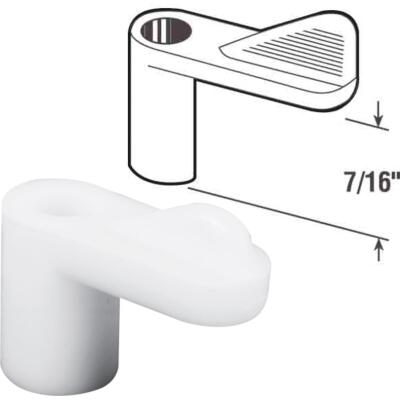Prime-Line 7/16 In. White Swivel Plastic Screen Clips with Screws (12 Count)