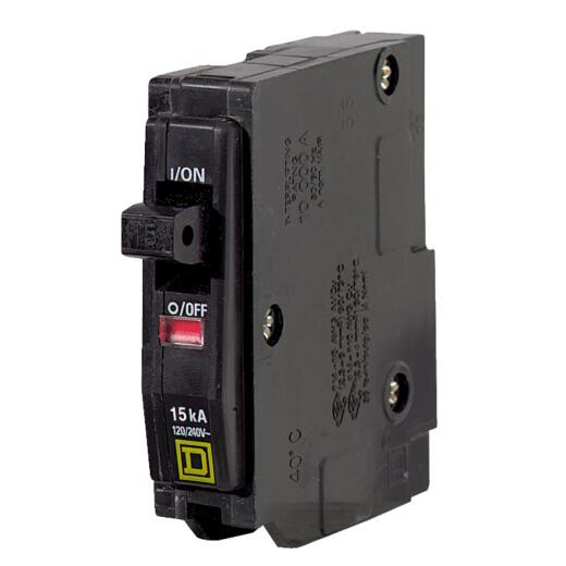 Square D QO 15A Single-Pole Standard Trip Circuit Breaker