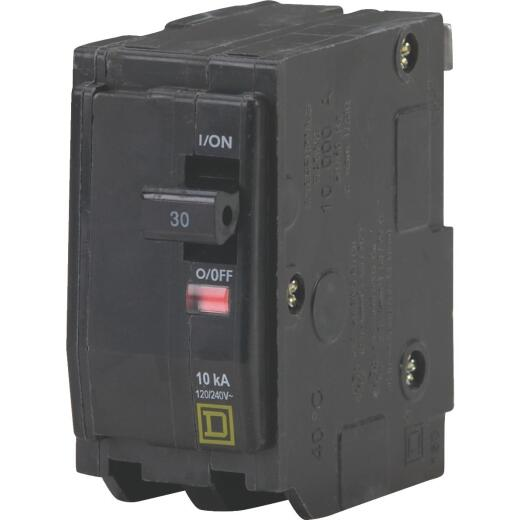 Square D QO 30A Double-Pole Standard Trip Circuit Breaker