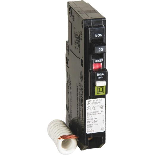 Square D QO 20A Single-Pole CAFCI Combination Arc Fault Breaker